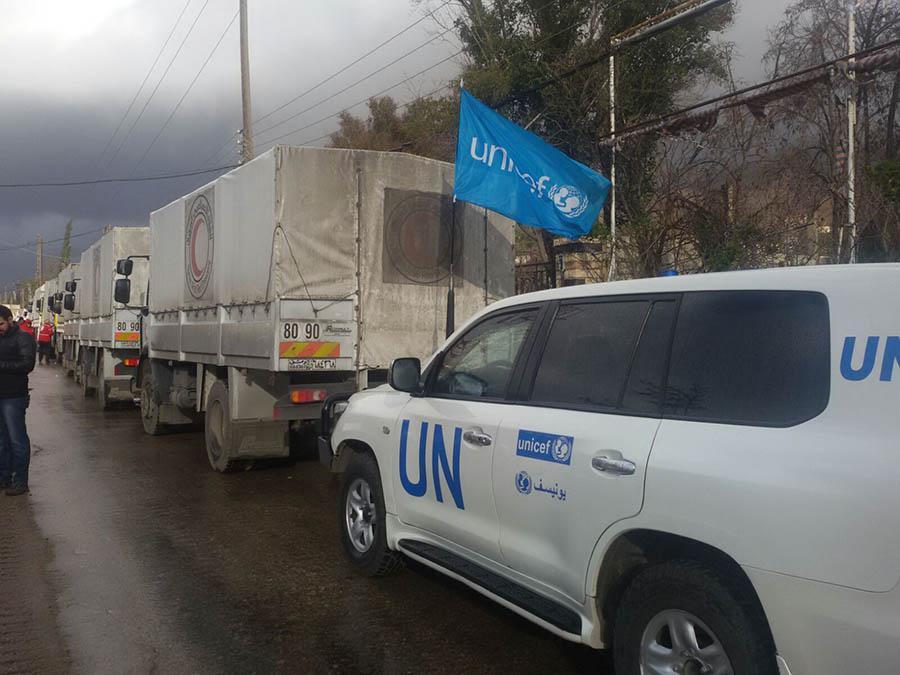 قافلة إغاثة أوروبية للنازحين الفلسطينيين من سوريا