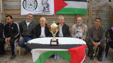 فوز نادي الانصار بكأس يوم الارض في مخيم عين الحلوة
