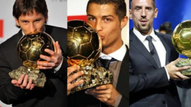 رسمياً || الكرة الذهبية تنحصر بين رونالدو وميسي وريبيري