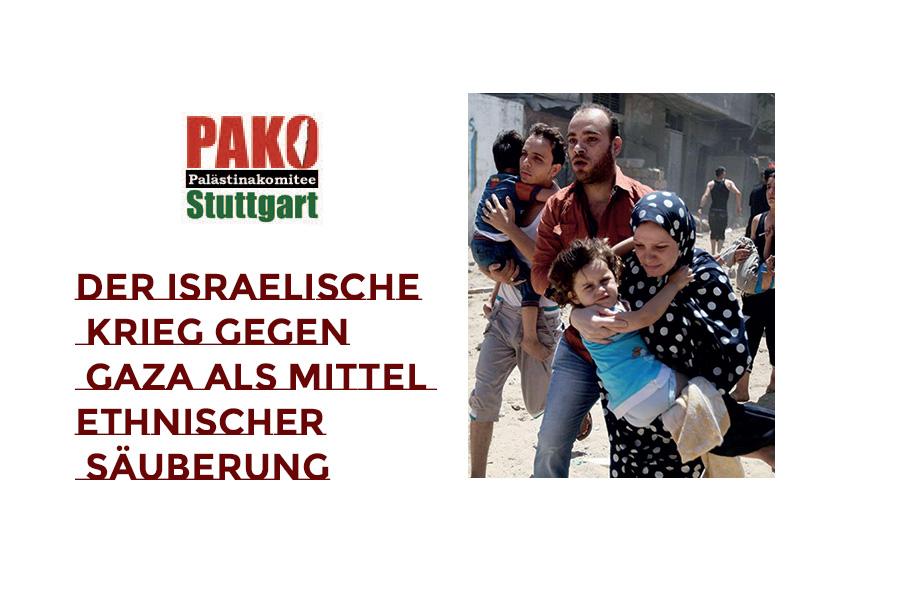 anbei schicken wir euch ein Flugblatt des Palästinakomitee Stuttgart zur aktuellen Situation