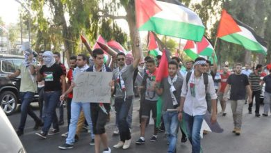 قبرص || مظاهرة حاشدة أمام مقرات الامم المتحدة في مدينة فامغوستا تنديدا بالعدوان الإسرائيلي على غزة