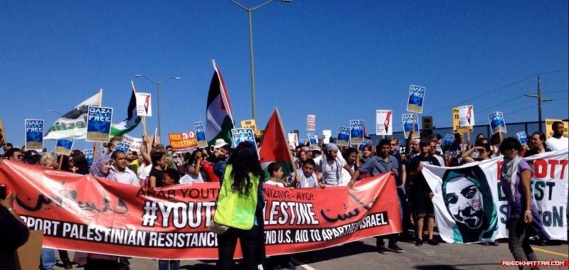 كاليفورنيا || منع سفينة إسرائيلية من تفريغ حمولتها وطردها من ميناء أوكلاند إحتجاجاً على العدوان الإسرائيلي على قطاع غزة