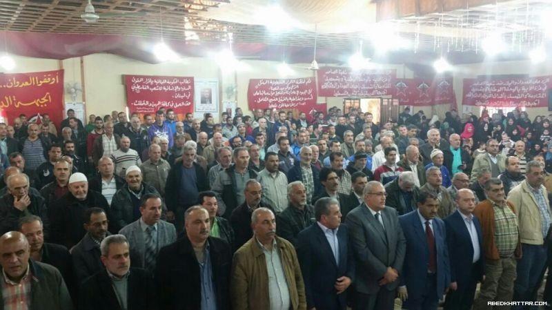 مهرجان وطني حاشد للديمقراطية في مخيم نهر البارد