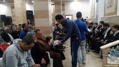 افتتاح قاعة مسجد الخليفة عمر بن الخطاب بعد صلاة العشاء في مخيم البداوي