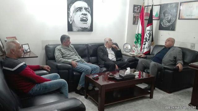 الجبهة الشعبية لتحرير فلسطين تلتقلي العميد مصطفى حمدان