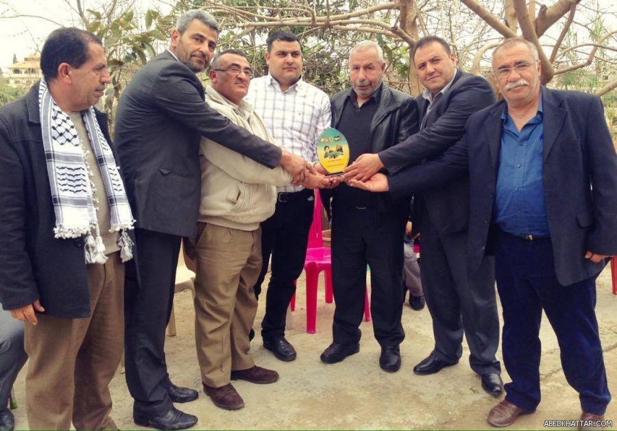 حركة فتح كرمت جمال سكاف لجهوده في دعم القضية الفلسطينية