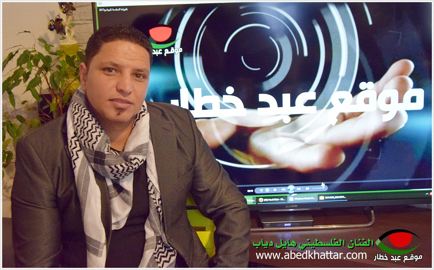 الفنان الفلسطيني هايل دياب ابن مخيم اليرموك