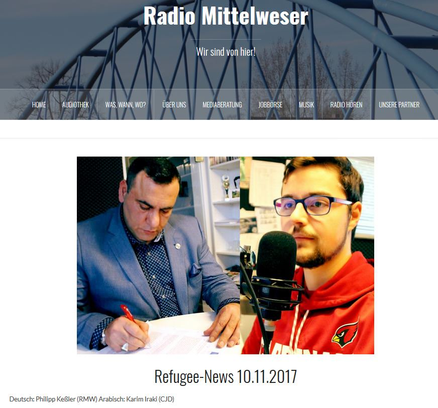 نشرة اخبارية بالعربية بصوت النائب الآلماني الفلسطيني عبد الكريم عراقي