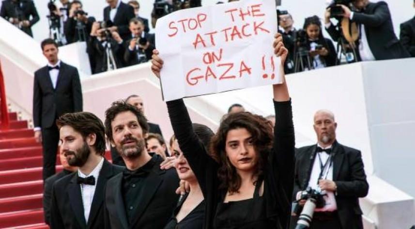 صدمة بتل أبيب || مهرجان كان السينمائي تحول لتظاهرة تنديد بجرائمها في غزّة