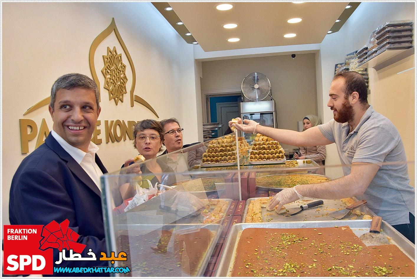 زيارة وفد الحزب الاشتراكي الديمقراطي/ SPD الى شارع العرب بمناسبة حلول عيد الفطر السعيد