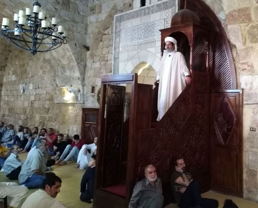 الشيخ بلال سعيد شعبان دعا في خطبة الفطر إلى نبذ الخلافات
