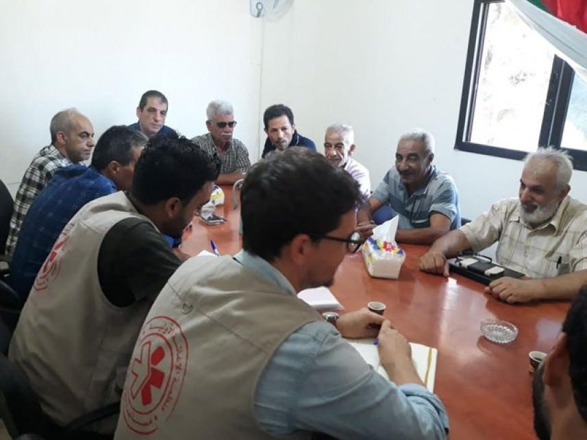 الإغاثة الأولية واللجان الشعبية تبحثا حاجات ومعاناة المخيمات الفلسطينبة في صيدا