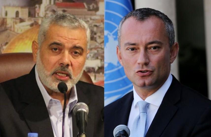 إسماعيل هنية يستقبل ميلادينوف لمناقشة الوضع في غزة