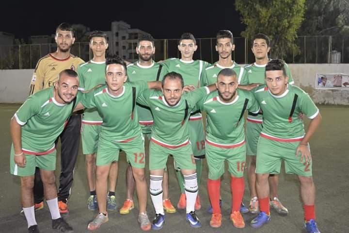 فوز نادي الخليل على نادي جنين في مخيم البداوي
