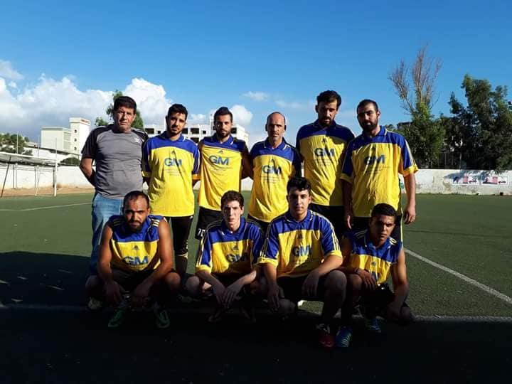 فوز النضال بنتيجة 6- 1على فريق الأهلي في مخيم البداوي