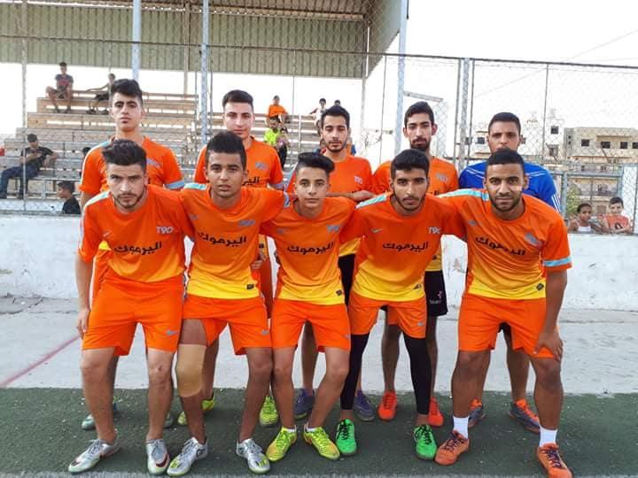 فوز فريق اليرموك على الشبيبة بنتيجة 6 -1 في مخيم البداوي