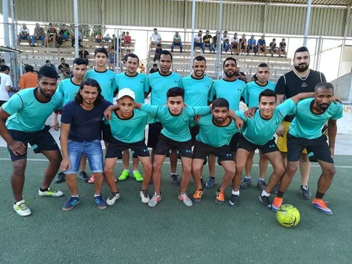 تعادل نادي القدس و نادي النضال بنتيجة 4 _4 في مخيم البداوي