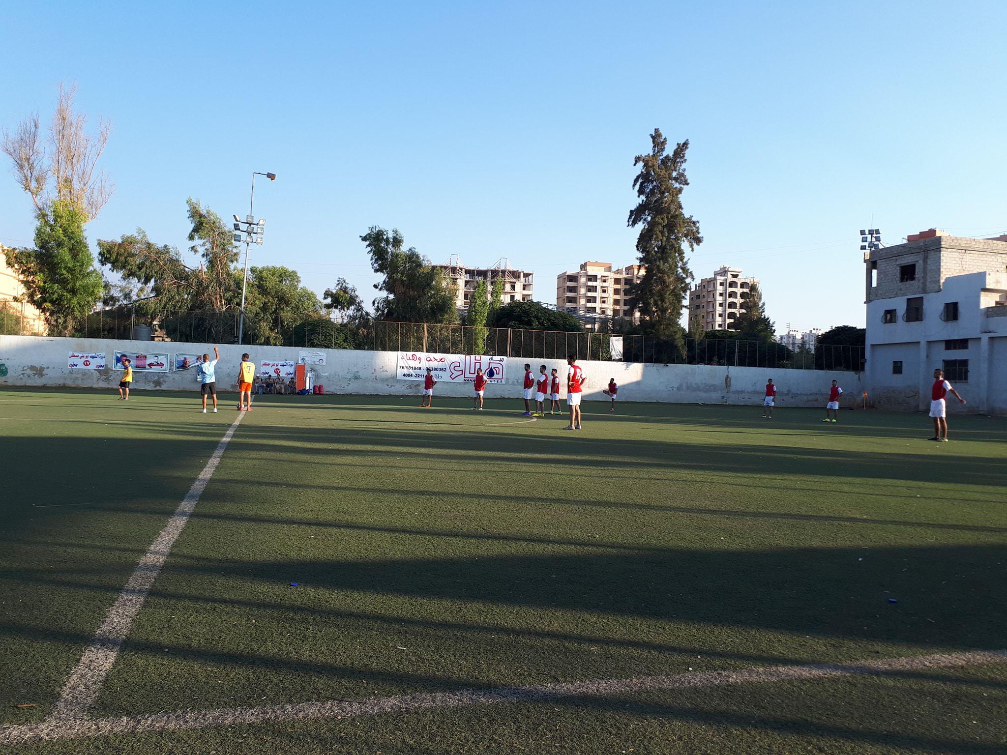 فوز نادي الأجيال على نادي الاهلي 6-0 في مخيم البداوي