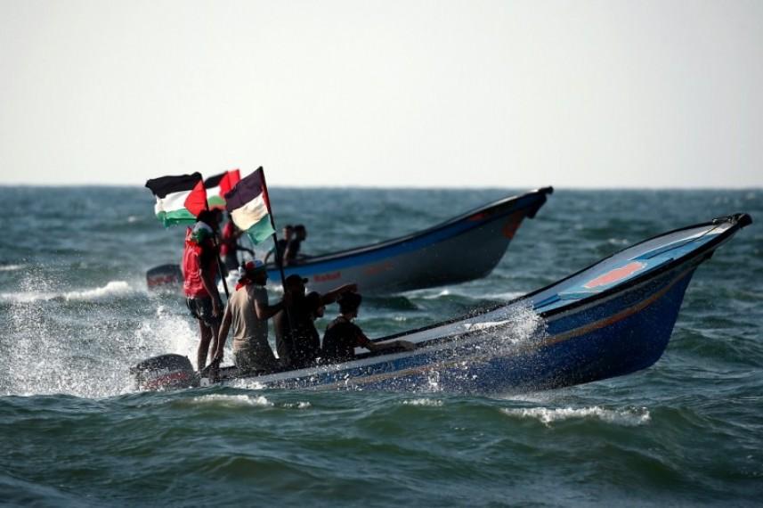 العدو يطلق النار تجاه المسير البحري شمال قطاع غزة