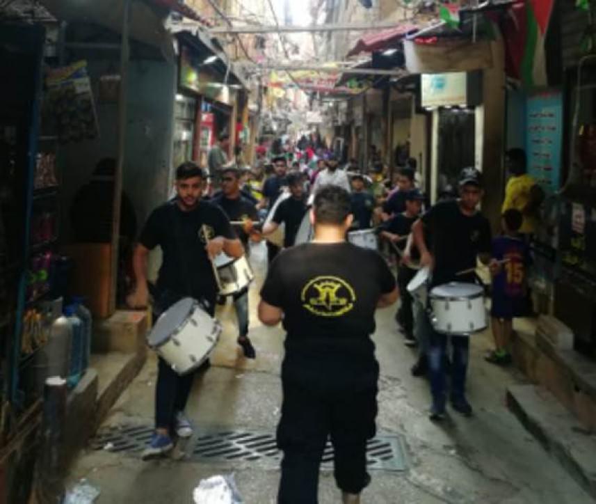 الجهاد تنظم مسيرات تضامنية في مخيمات لبنان دعماً للقدس وغزة