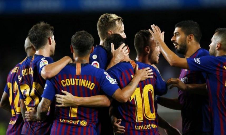 برشلونة يفتتح الدوري بالفوز على ديبورتيفو ألافيس