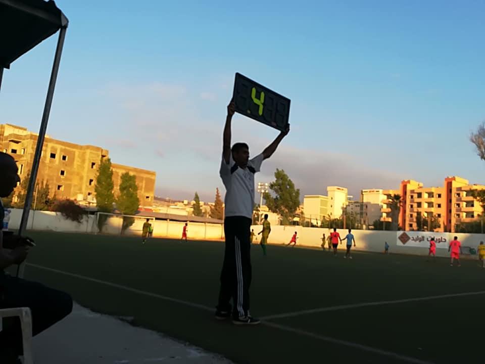 فوز نادي الهلال على نادي الدره في مخيم البداوي على ملعب فلسطين
