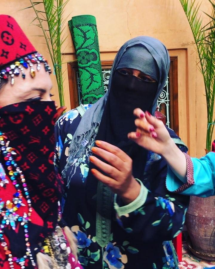 فيديو.. مادونا تظهر بالنقاب في المغرب