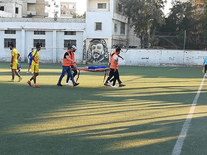 الضفة والهلال يتعادلان بتصفيات المجموعة الثانية على ارص ملعب فلسطين في مخيم البداوي