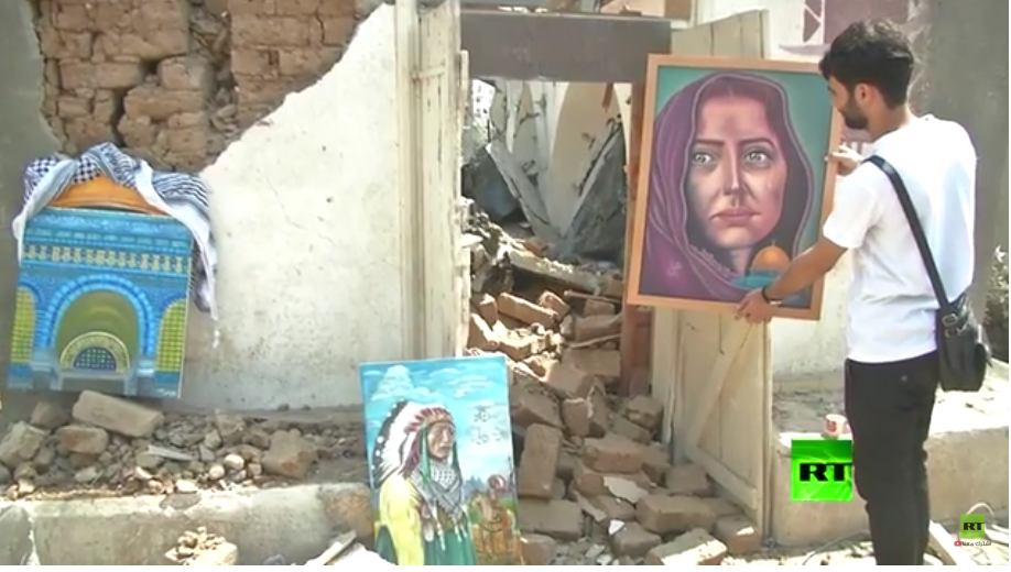 فن تشكيلي لأنقاض الحروب بغزة