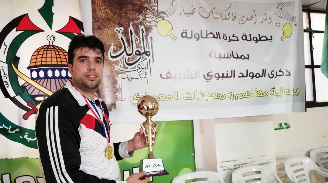 نادي شبيبة فلسطين يحصد المركز الاول في بطولة كرة الطاولة