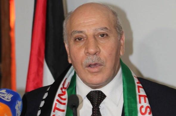 علي فيصل في لقاء نقابي أقامه الاتحاد العمالي في يوم التضامن مع الشعب الفلسطيني