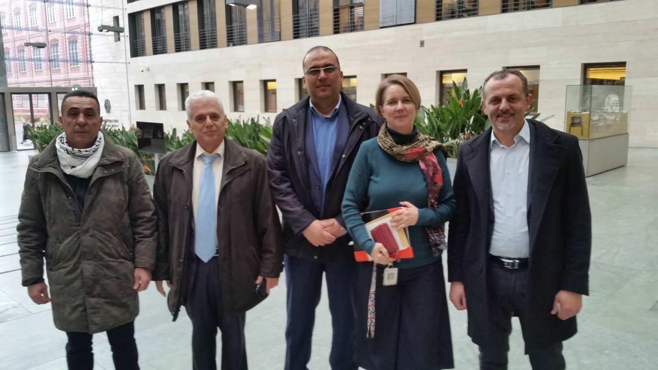 وفد من هيئة المؤسسات والجمعيات الفلسطينيّة والعربيّة في زيارة مقر وزارة الخارجيّة الألمانيّة في العاصمة برلين