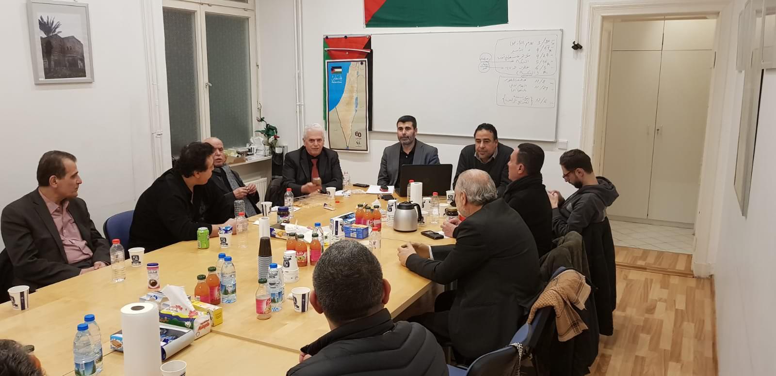ناقشت هيئة المؤسسات والجمعيات الفلسطينية والعربية في برلين وفِي لقائها الدوري