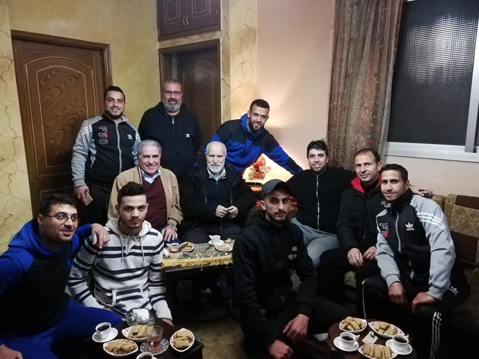 نادي شبيبة فلسطين بزياره خاصه للأخ العزيز محمد فاعور بعد عمليه جراحيه في الركبه.