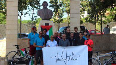 نبضات إلى فلسطين .. سعد يحيي الدرّاجين المتوجّهين إلى الحدود مع فلسطين المحتلة