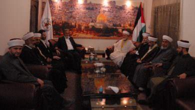 الأمين العام لحركة الجهاد يستقبل مجلس علماء فلسطين