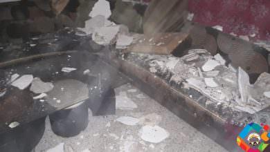 نجاة عائلة انهار سقف منزلها في مخيّم البص