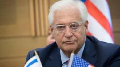 السفير الأمريكي بالكيان من حق تل أبيب ضم جزء من الضفة