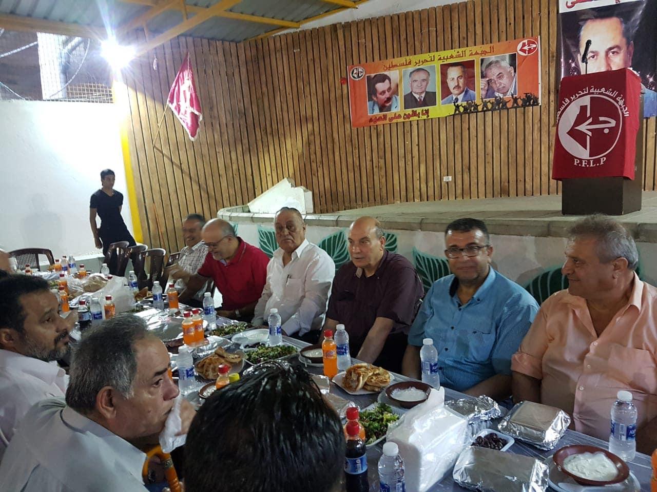 في حفل الافطار السنوي التاسع تكريماً لروح الشهيد القائد ابو علي مصطفى