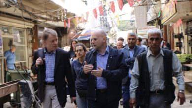 المدير العام للوكالة السويسرية للتنمية والتعاون ومديرعام الأونروا في لبنان يزوران مخيّم البداوي للاجئين الفلسطينيين