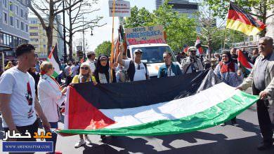 إحياء يوم القدس العالمي في العاصمة الألمانية برلين وسط اجراءات أمنية كثيفة من رجال البوليس الالماني لمنع التصادم للمجموعات الاسرائيلية المضادة