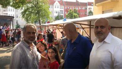 أجواء حفل العيد الذي نظمته المراكز الإسلامية أمام المركز الثقافي التربوي الإسلامي في برلين