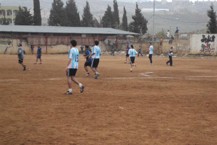 فوز نادي الضفه على نادي النضال ضمن بطولة كأس فلسطين