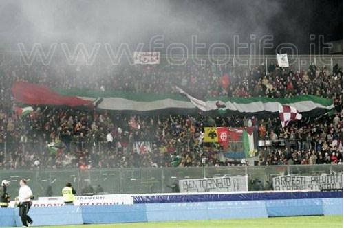 جماهير نادي لاتسيو وليفورنو حب وعشق لفلسطين