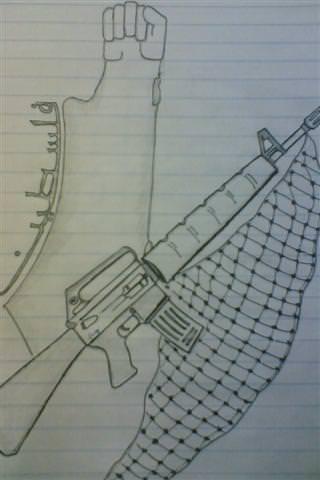 رسومات اسير فلسطيني.. في سجن النقب