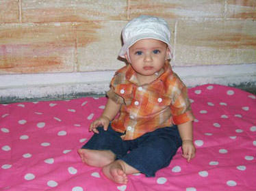 يوسف الزق اصغر اسير فلسطيني ... بالصور