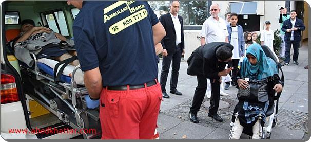 خمسة جرحى فلسطينيين الى برلين مع مرافقيهم بالتنسيق مع مستشفى فيفانتس نيوكلن