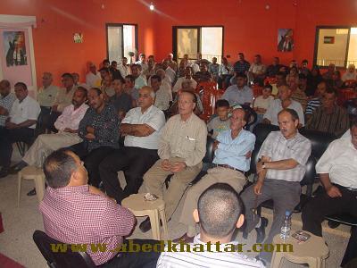 لقاء تضامني في مخيم البرج الشمالي مع القائد الوطني احمد سعدات
