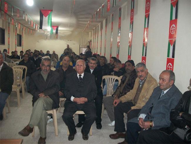 احتفال تكريمي لشهداء الجبهة الشعبية في مخيم البداوي