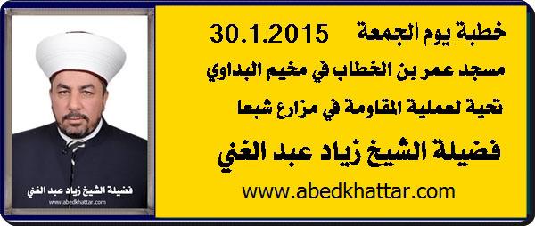 الشيخ زياد عبد الغني / تحية لعملية المقاومة في مزارع شبعا / في مخيم البداوي